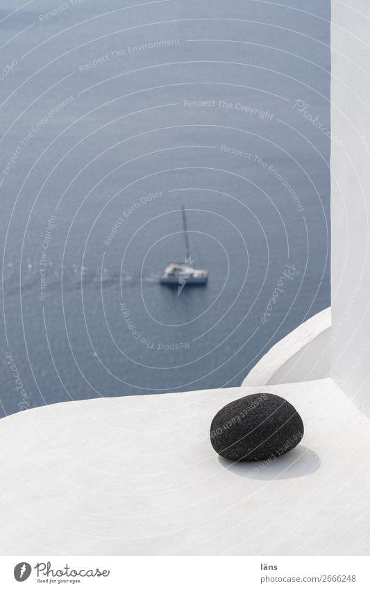 Ecke mit Boot Wasser Haus Wand Mauer Fassade Wasserfahrzeug einfach