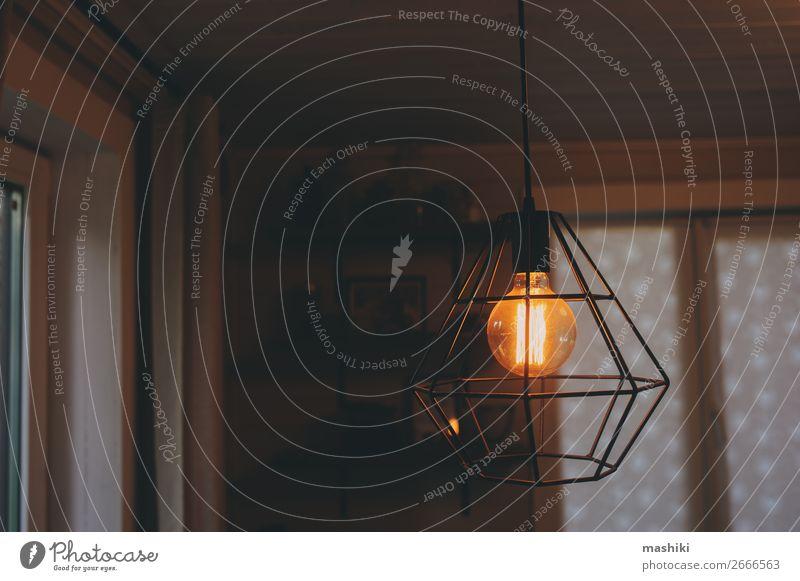 Edisonlampe im Vintage-Stil Beleuchtung am Abend Design Dekoration & Verzierung Lampe Nachtleben Technik & Technologie Metall glänzend dunkel hell modern retro
