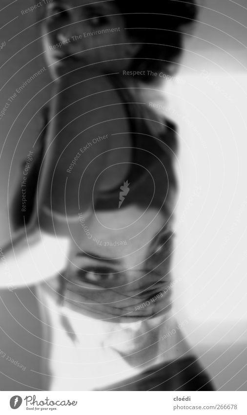 unleugbar Mensch Jugendliche Erwachsene feminin Angst Junge Frau 18-30 Jahre bedrohlich Lächeln Projektion
