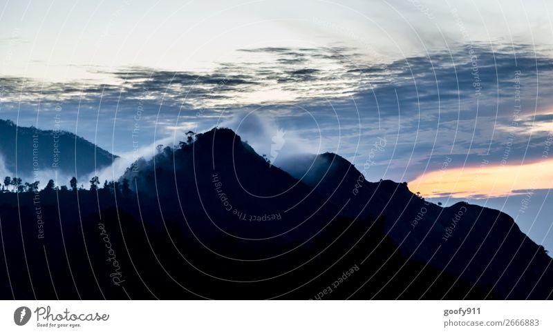 Sonnenaufgang in Ella Sri Lanka Ferien & Urlaub & Reisen Tourismus Ausflug Abenteuer Ferne Freiheit Expedition Berge u. Gebirge Umwelt Natur Landschaft Himmel