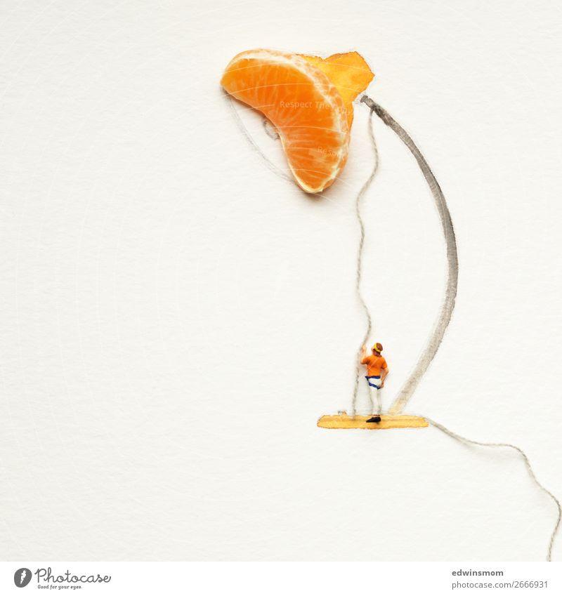 Be creative Frucht Mandarine Freizeit & Hobby Spielen Basteln Lampe maskulin Mann Erwachsene 1 Mensch Papier Dekoration & Verzierung Nähgarn gebrauchen leuchten