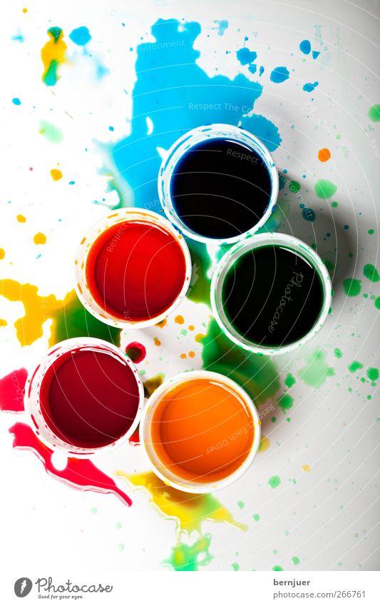 Jackson P färbt Ostereier blau weiß grün rot gelb Farbstoff Kunst ästhetisch Tropfen Kunststoff Gemälde bizarr Fleck Schalen & Schüsseln Mischung Becher
