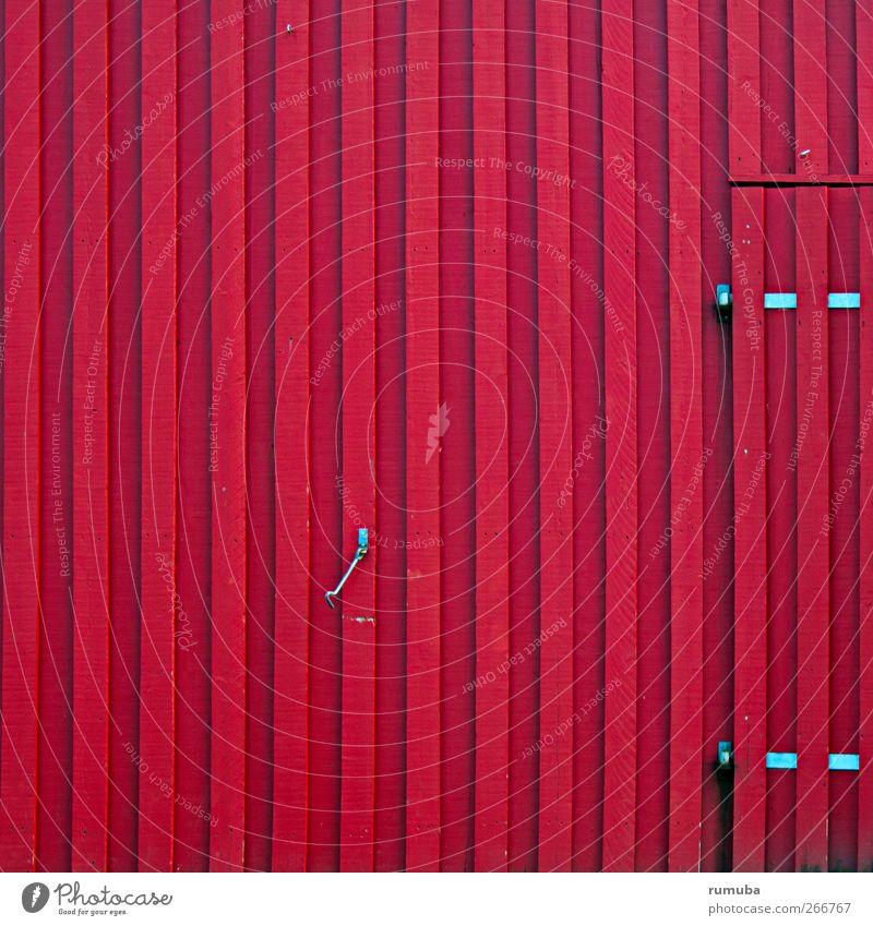 Tor Dorf Hafen Gebäude Architektur Tür Holz rot Holztor Haken Holzwand Lister Meile Bauernhof Scheune Hütte Lagerhalle Landwirtschaft Farbfoto Außenaufnahme