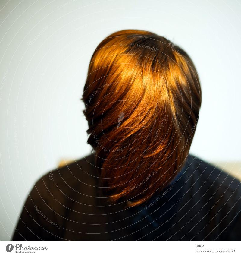 Goldschopf Stil schön Haare & Frisuren Freizeit & Hobby Kind Kindheit Jugendliche Leben Kopf 1 Mensch rothaarig kurzhaarig Pony hängen glänzend braun gold