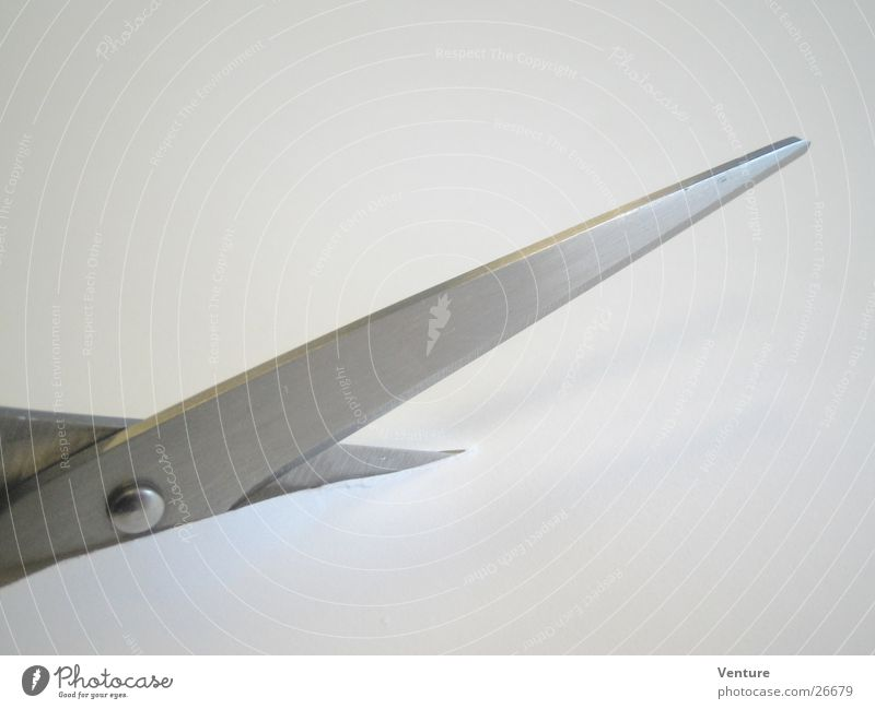 Schere (2) Metall Perspektive Werkzeug Scharfer Gegenstand geschnitten Schere Haarschnitt Klinge