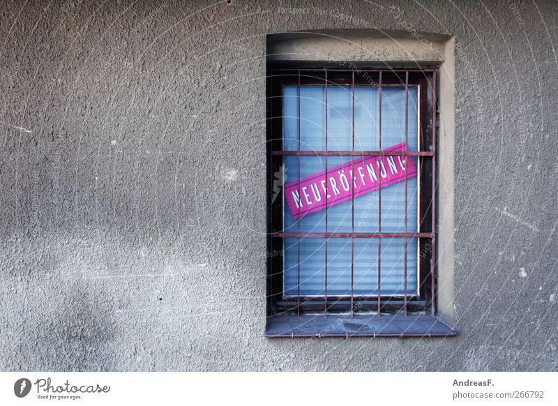 Neueröffnung Haus Fenster Freiheit Arbeit & Erwerbstätigkeit Fassade Schilder & Markierungen Erfolg Schriftzeichen Ladengeschäft Dienstleistungsgewerbe