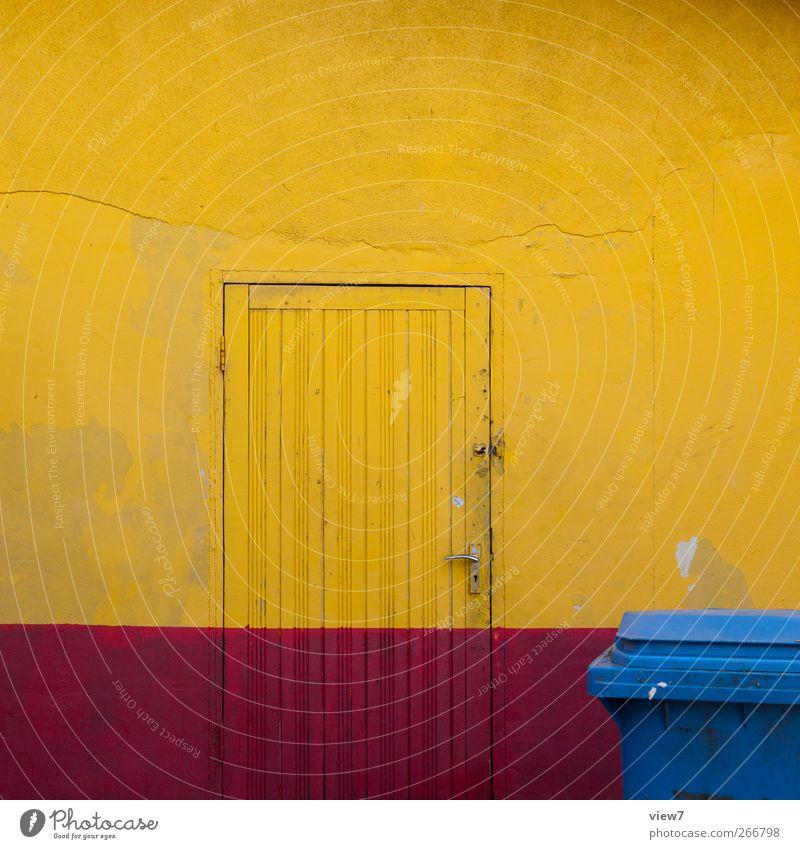 Kolumbien blau rot Haus gelb Wand Architektur Stein Gebäude Mauer Linie Innenarchitektur Tür Fassade Beton Design modern