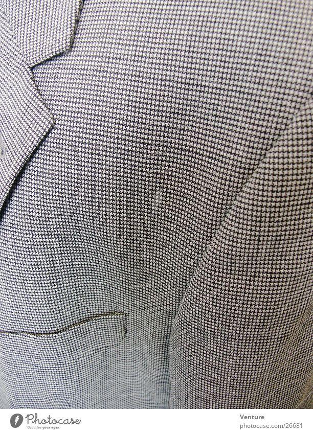 Sakko Bekleidung Jacke Tasche Stoff Design Schneider Muster geschäftlich Mann Makroaufnahme Nahaufnahme Anzugsjacke Revers Nähgarn Haarschnitt