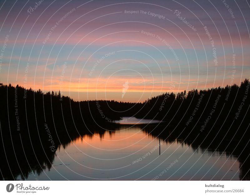 Weiße Nächte Finnland Romantik Sonnenaufgang Europa Wasser Natur unberührte Natur