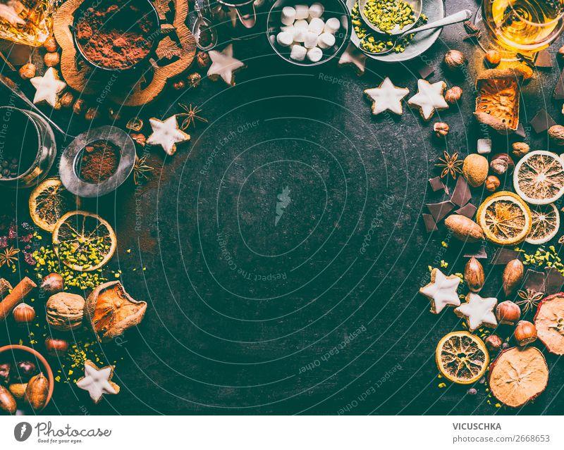 Weihnachtsgebäck Zutaten Lebensmittel Frucht Kuchen Dessert Süßwaren Schokolade Kräuter & Gewürze Ernährung Festessen Geschirr kaufen Stil Design Winter