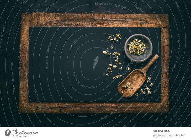 Hintergrund mit getrockneten Kamillenblüten Stil Design Gesundheit Behandlung Alternativmedizin Gesunde Ernährung Natur gelb Gesundheitswesen Hintergrundbild