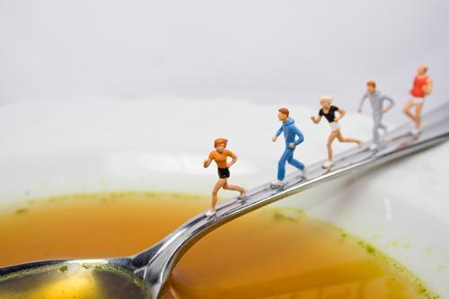 Fit & Gesund Lebensmittel Suppe Eintopf Ernährung Geschirr Teller Schalen & Schüsseln Löffel schön Gesundheit Gesunde Ernährung sportlich Fitness Übergewicht