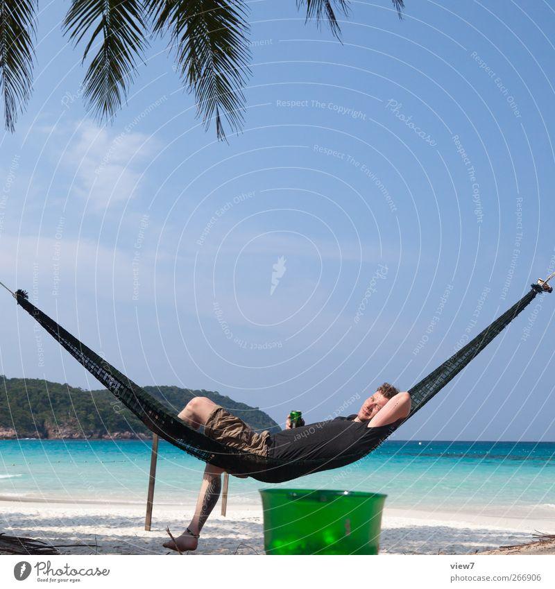 Bierchen Mensch Mann Natur Pflanze Sonne Meer Erwachsene Erholung Landschaft Küste Glück Park Stimmung Zufriedenheit Freizeit & Hobby Getränk