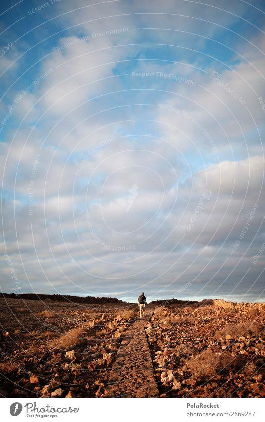 #AS# way forward Kunst ästhetisch Fußweg wandern laufen Wege & Pfade Zukunft Abenteuer geradeaus Ausflug Außenaufnahme Fuerteventura Farbfoto Gedeckte Farben