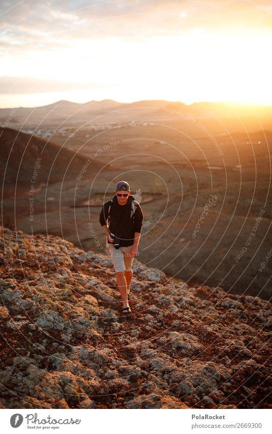 #AS# The WanderMan Kunst ästhetisch laufen wandern Wanderschuhe Wandertag Wanderausflug Wandergeselle Außenaufnahme Fuerteventura Mann maskulin Abenteuer