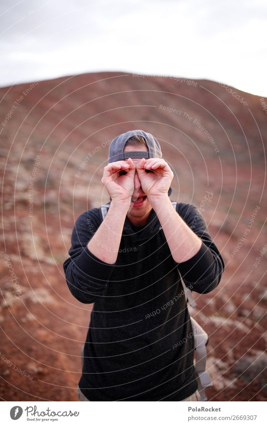 #AS# Eule HORST maskulin Junger Mann Jugendliche Haut Gesicht Glück Fröhlichkeit Eulenvögel Grimasse Hand Mütze Coolness Kreativität Freude lustig beobachten