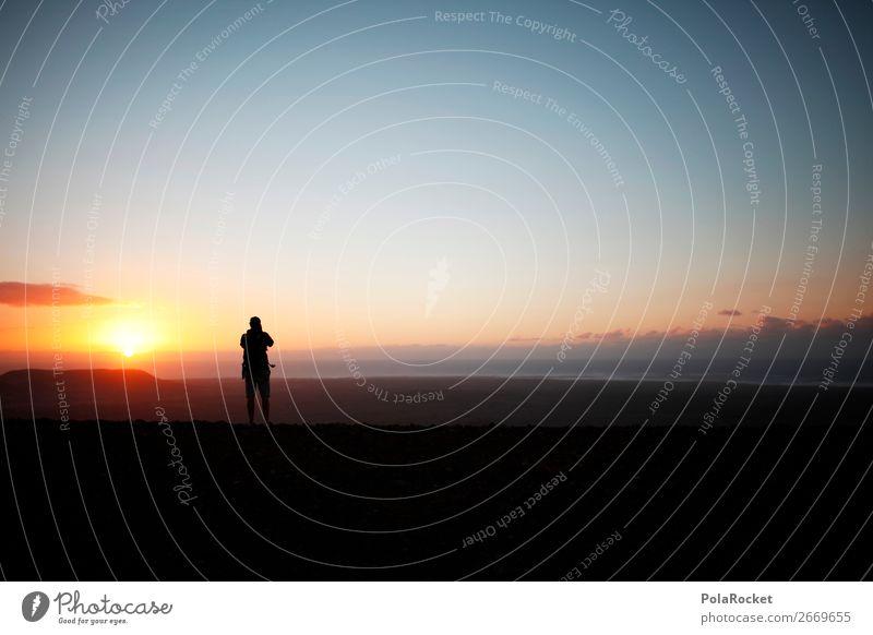 #AS# High End Mensch Sonne Ferne Berge u. Gebirge maskulin ästhetisch Idylle Abenteuer Fotografie hoch Gipfel Fotografieren Urlaubsfoto Fuerteventura