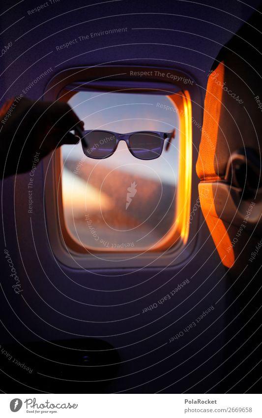 #AS# Sonnenblick Ferien & Urlaub & Reisen Reisefotografie Fenster Flugzeugfenster fliegen Freizeit & Hobby Luftverkehr ästhetisch Sonnenbrille reisend