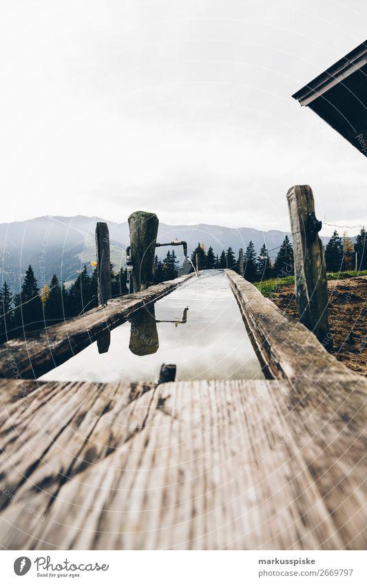 Riedl Alm Ferien & Urlaub & Reisen Landschaft Ferne Berge u. Gebirge Leben Herbst Tourismus Freiheit Arbeit & Erwerbstätigkeit Ausflug Zufriedenheit wandern