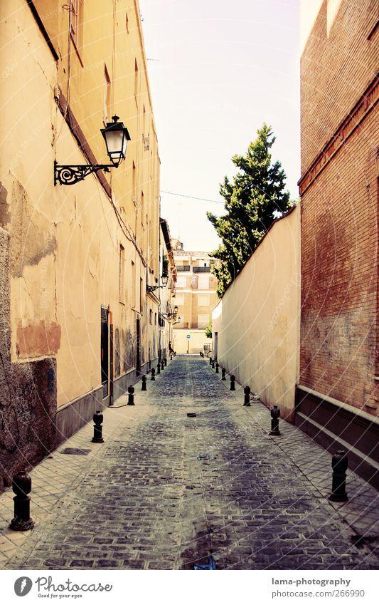 Streets of Andalusia [XXXIX] Granada Andalusien Spanien Stadtzentrum Altstadt Menschenleer Mauer Wand Fassade Straße Wege & Pfade Gasse retro verfallen