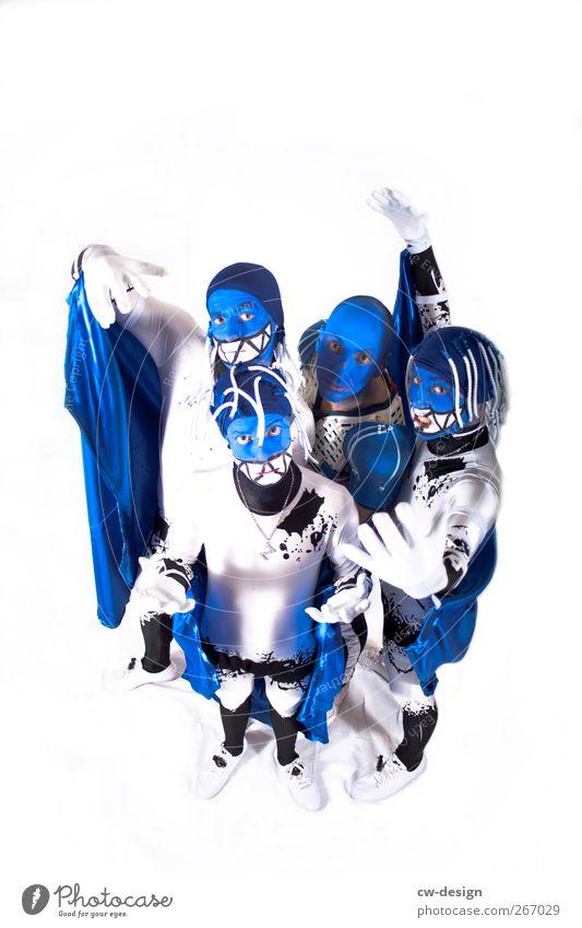 Die Zwangsjacken : Finale Mensch Mann Jugendliche blau weiß Freude Erwachsene Menschengruppe Stil Freundschaft Kunst Junger Mann außergewöhnlich 18-30 Jahre Freizeit & Hobby maskulin