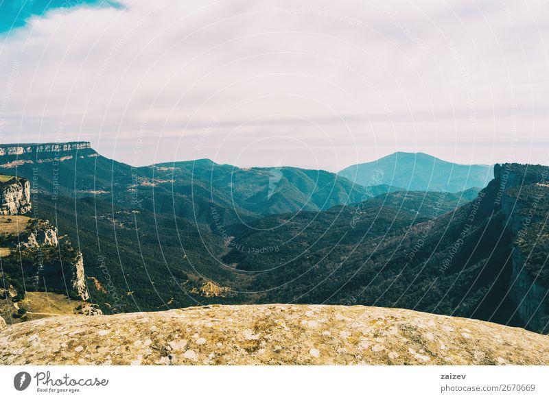 Himmel Ferien & Urlaub & Reisen Natur Pflanze blau schön grün weiß Landschaft Baum Wolken ruhig Berge u. Gebirge Herbst gelb Umwelt