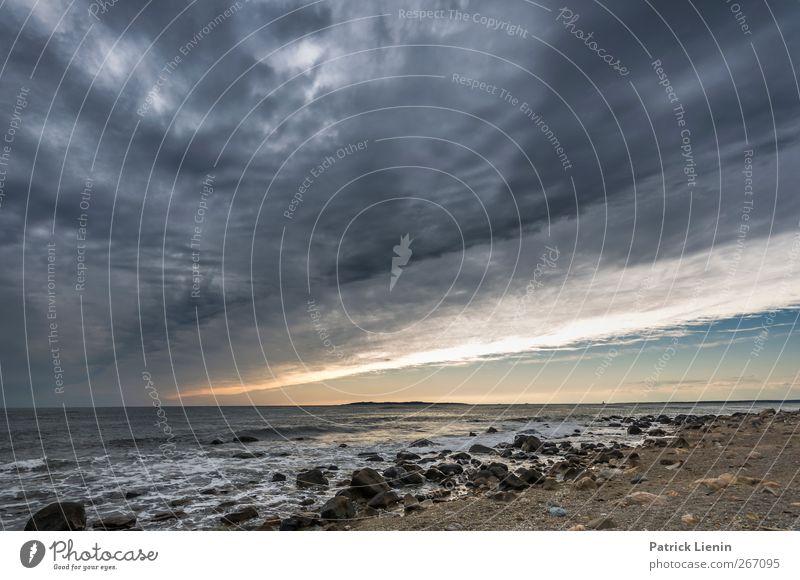 Wide World Umwelt Natur Landschaft Urelemente Sand Wasser Himmel Wolken Gewitterwolken Sonne Sonnenaufgang Sonnenuntergang Klima Klimawandel Wetter