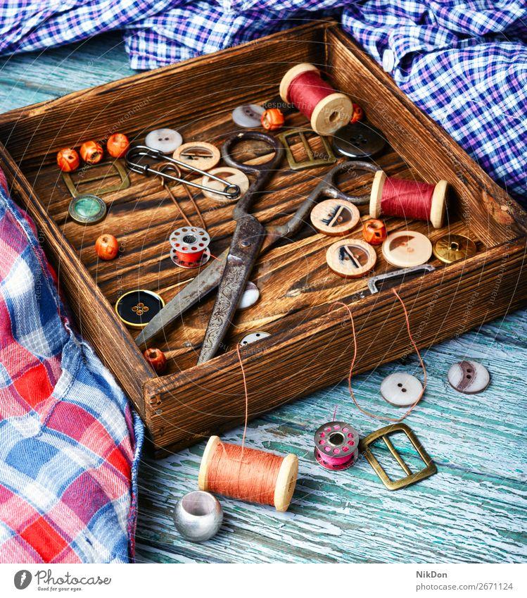 Werkzeuge für Handarbeit Schaltfläche Faser Nähen Nadel Handwerk Textil nähen Stoff handgefertigt Spule Garnspulen Bekleidung Damenschneiderei Hobby Material