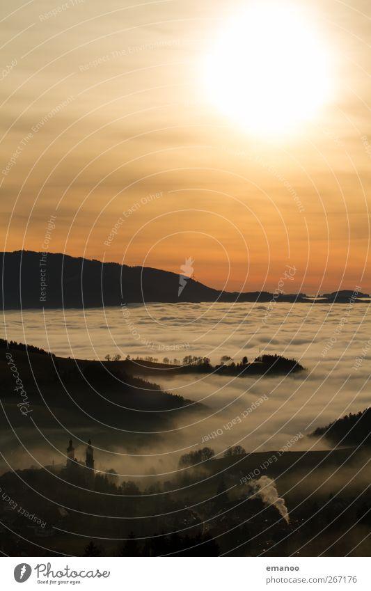 St. Peter Himmel Natur Ferien & Urlaub & Reisen schön Sonne Landschaft Wolken Haus dunkel Wald Berge u. Gebirge Herbst Tourismus Wetter Nebel hoch
