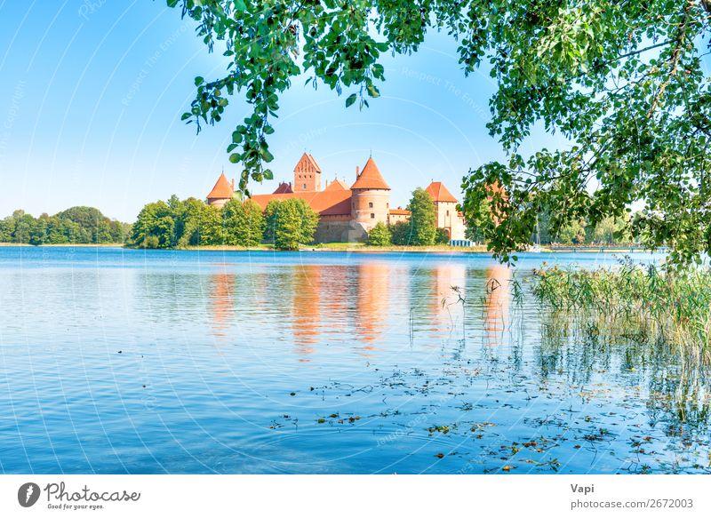Himmel Ferien & Urlaub & Reisen Natur alt Sommer Pflanze blau Stadt schön grün Wasser weiß Landschaft rot Baum Blatt