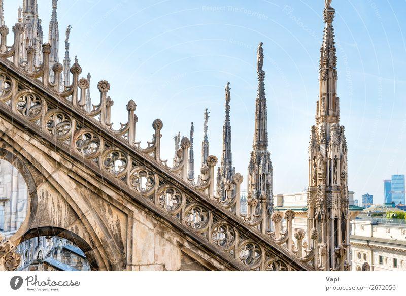 Architektur auf dem Dach der Domkirche schön Ferien & Urlaub & Reisen Tourismus Sightseeing Städtereise Dekoration & Verzierung Kunst Skulptur Himmel