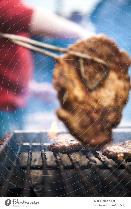 Steak Mensch Feste & Feiern Arbeit & Erwerbstätigkeit Lebensmittel Ernährung Lifestyle Kochen & Garen & Backen Übergewicht Rauch Grillen Reichtum Duft Fett