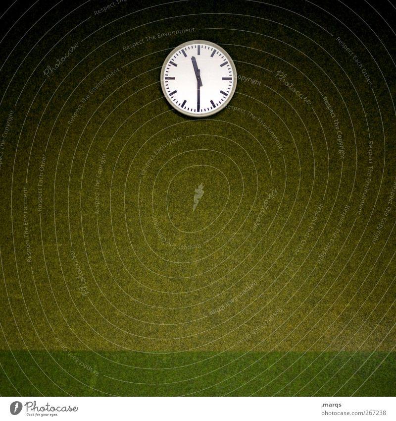 Tempus fugit Stil Innenarchitektur Uhr Studium Arbeit & Erwerbstätigkeit Arbeitsplatz Büro alt außergewöhnlich retro schön grün Verlässlichkeit Pünktlichkeit