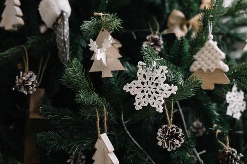 Weihnachtsbaumschmuck aus nächster Nähe Lifestyle kaufen Reichtum elegant Stil Design Freude Nachtleben Entertainment Party Veranstaltung Feste & Feiern