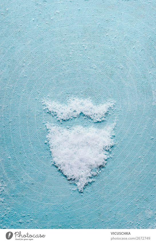 Weihnachtsmann Bart und Schnurrbart gemacht mit Schnee Mensch Weihnachten & Advent Freude Winter Hintergrundbild Feste & Feiern Stil Party Stimmung Design