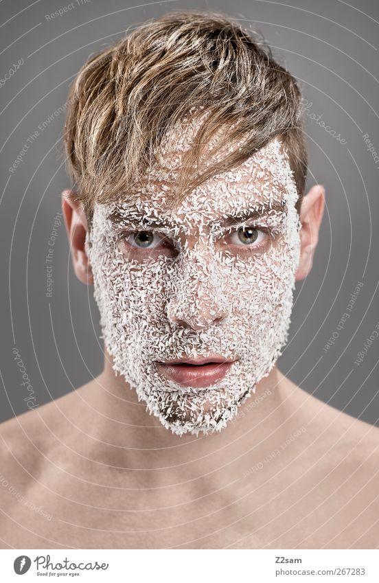 strukturiert Stil maskulin Junger Mann Jugendliche 1 Mensch 18-30 Jahre Erwachsene Haare & Frisuren blond alt träumen ästhetisch einfach selbstbewußt Coolness
