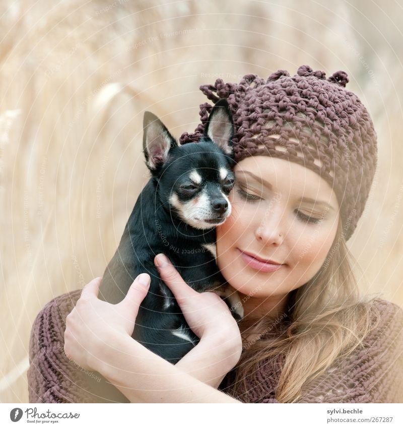 You´re my heart, you´re my soul ... lalalalalala ;-) Mensch Hund Natur Jugendliche Tier Liebe Umwelt feminin Herbst Gefühle Frühling Gras Paar Freundschaft