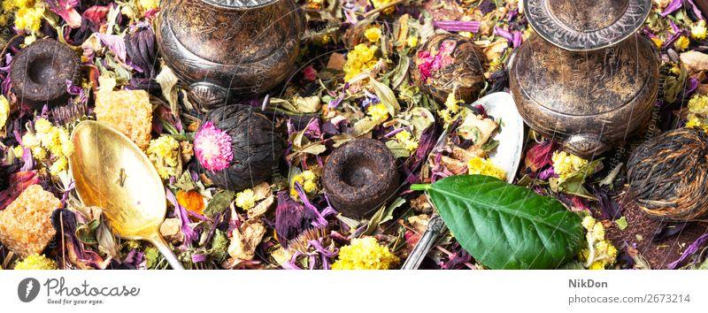Gesunder Kräutertee Tee Kraut Hintergrund Kräuterbuch Gesundheit Blatt Blume trinken grün natürlich trocknen organisch Aroma Getränk Chinesisch Antioxidans