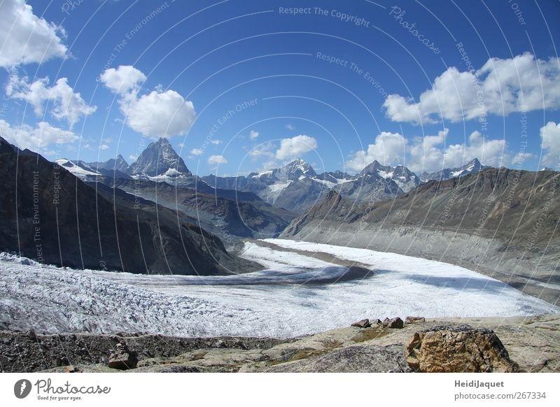 Verstecktes Matterhorn Natur Ferien & Urlaub & Reisen Sommer Sonne Landschaft Berge u. Gebirge Schnee Freiheit Freizeit & Hobby Tourismus Idylle Ausflug Schönes Wetter Abenteuer Alpen Klettern