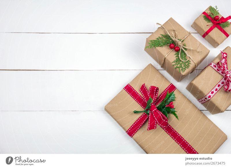 Weihnachten präsentiert kreatives Layout. Design Winter Dekoration & Verzierung Tisch Feste & Feiern Weihnachten & Advent Silvester u. Neujahr Baum Papier