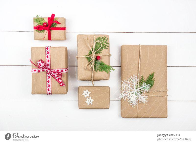 Weihnachtsgeschenke kreatives Layout Design Winter Dekoration & Verzierung Tisch Feste & Feiern Weihnachten & Advent Silvester u. Neujahr Baum Papier Spielzeug