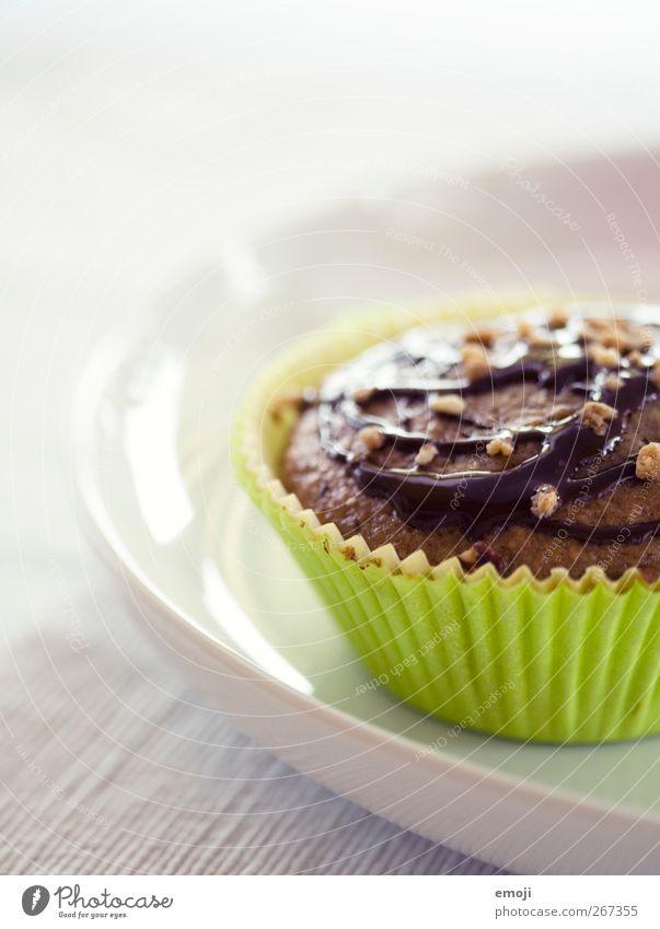 zum Wochenende Teigwaren Backwaren Dessert Süßwaren Schokolade Ernährung Fingerfood Teller lecker grün Muffin süß verziert Farbfoto Innenaufnahme Nahaufnahme