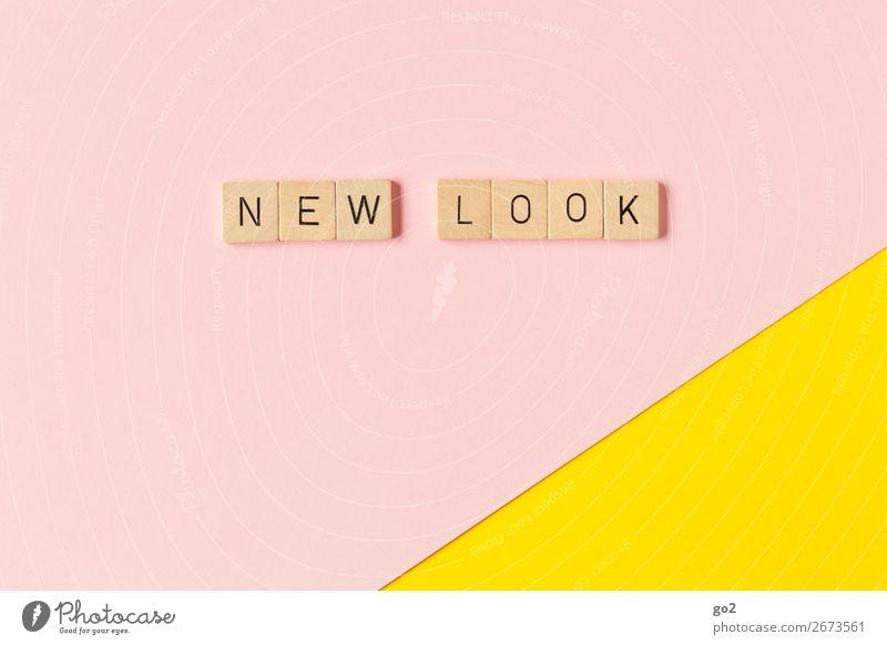 New Look Spielen Papier Dekoration & Verzierung Holz Schriftzeichen ästhetisch außergewöhnlich Coolness frisch trendy einzigartig neu gelb rosa Design Farbe