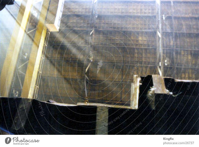 Strahl auf Stahl Licht Staub Maschine Industrie Sonne