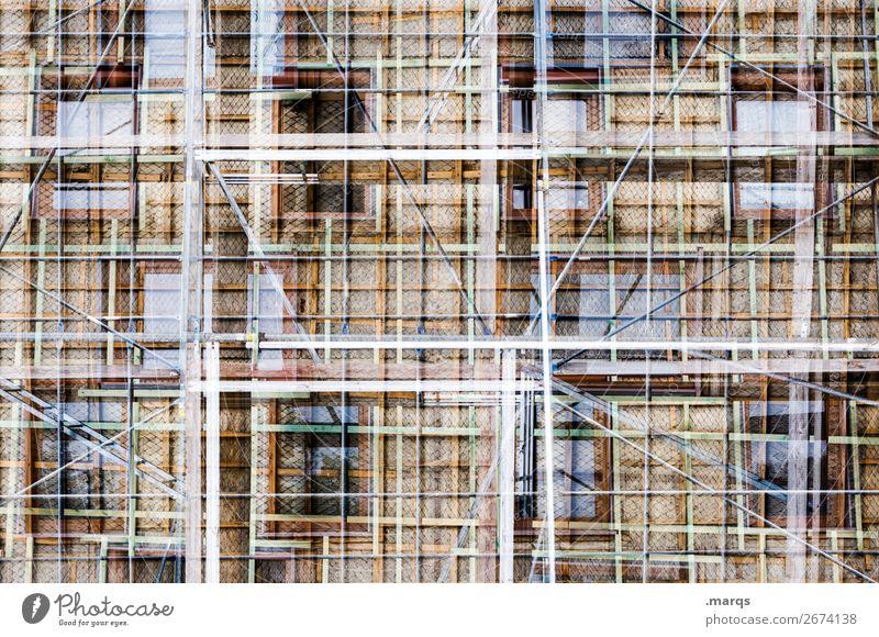 Modernisierung Stil Haus Bauwerk Gebäude Architektur Fassade Fenster Baugerüst bauen außergewöhnlich neu viele verrückt einzigartig komplex Perspektive
