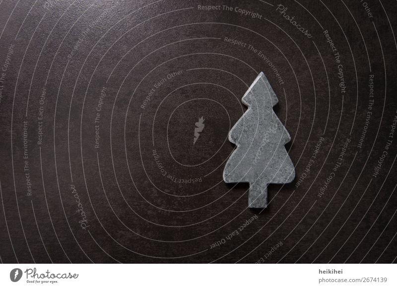 O Tannenbaum Kunst Baum Stein Symbole & Metaphern einfach modern grau schwarz Weihnachtsbaum Dekoration & Verzierung Weihnachten & Advent verschönern Postkarte