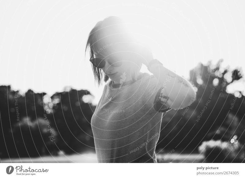 shine bright like a ... - [LS153] Frau Ferien & Urlaub & Reisen Jugendliche Junge Frau schön Erotik Einsamkeit 18-30 Jahre Lifestyle Erwachsene Leben Stimmung