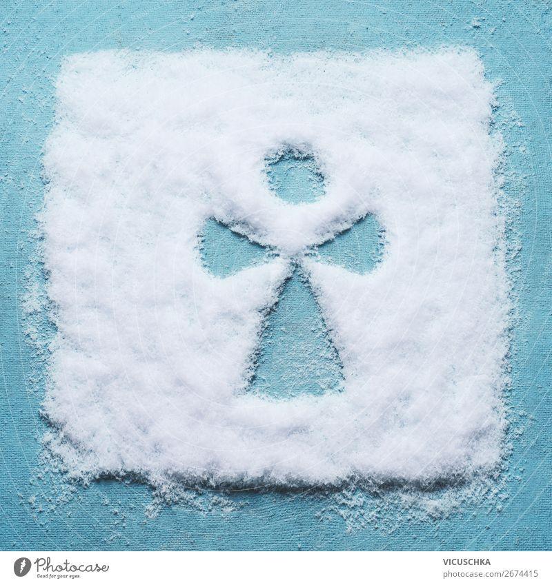 Schnee Engel gemacht mit Schnee Weihnachten & Advent Winter Hintergrundbild Religion & Glaube Feste & Feiern Stil Design Dekoration & Verzierung Kreativität