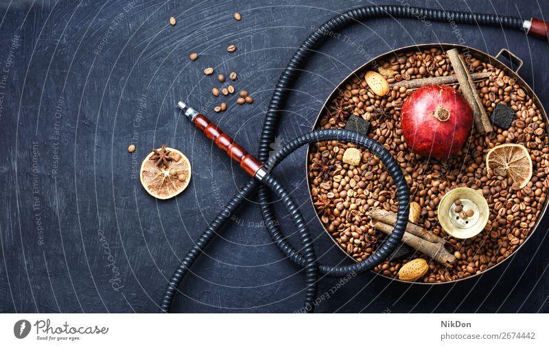 Moderne Wasserpfeife mit Kaffee-Aroma Wasserpfeifenrauch Tabak Rauch Bohne shisha Shisha rauchen Mundstück Erholung Granatapfel Wasserpfeifen-Lounge arabisch