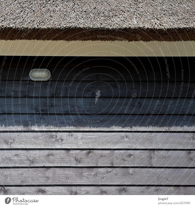 grenzlinie Haus Wand Architektur Holz Mauer Lampe braun Fassade Dach nachhaltig Einfamilienhaus Ferienhaus Ameland vernünftig Fassadenverkleidung Reetdach